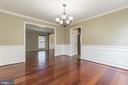 Elegant dining room - 135 BRUSH EVERARD CT, STAFFORD