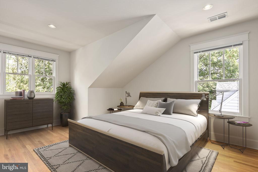 Fourth bedroom on upper level - 1611 N BRYAN ST, ARLINGTON