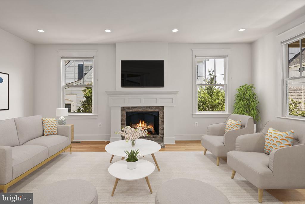 Get cozy around the fireplace - 1611 N BRYAN ST, ARLINGTON