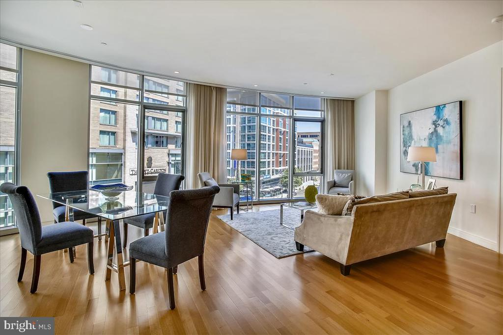 Open dining and living area - 1177 22ND ST NW #4M, WASHINGTON