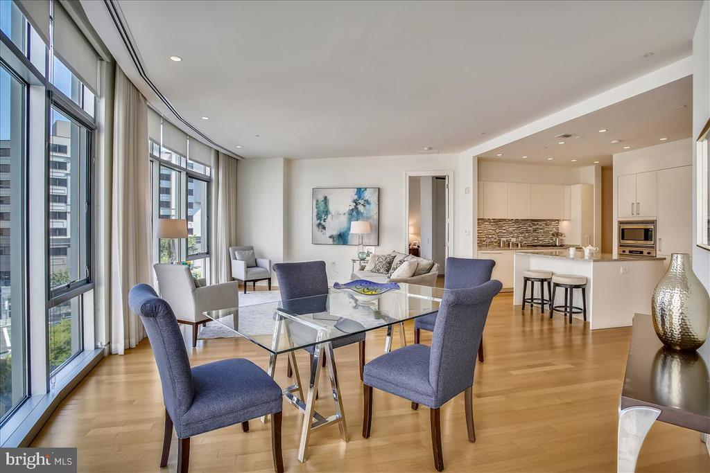 Open dining and kitchen area. - 1177 22ND ST NW #4M, WASHINGTON