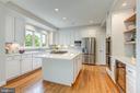 gourmet kitchen w/wine fridge - 22606 HILLSIDE CIR, LEESBURG