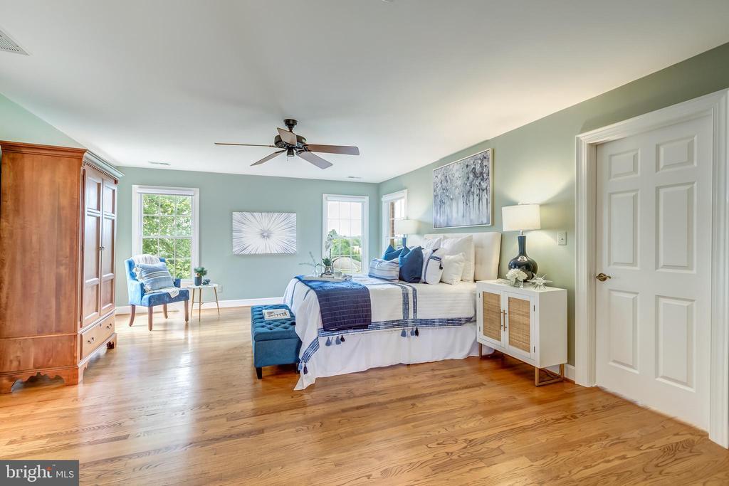 Elegant master bedroom w/large walk in - 22606 HILLSIDE CIR, LEESBURG
