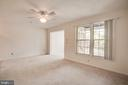 The ceiling fan adds more light and a cool breeze - 12236 LADYMEADE CT #5-201, WOODBRIDGE