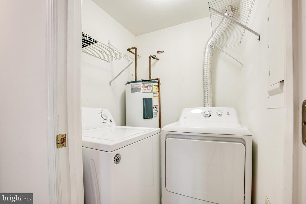 The washer and dryer convey with the unit - 12236 LADYMEADE CT #5-201, WOODBRIDGE