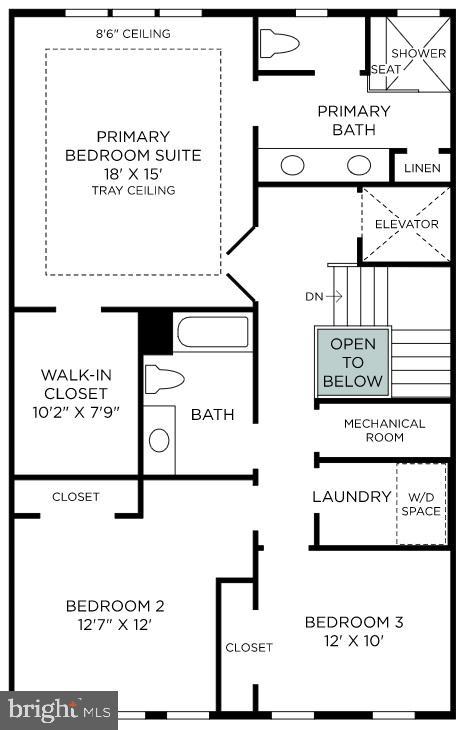 Bedroom Level - 43879 HANES HALL TER, ASHBURN