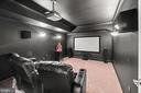 Custom Theater Room with projector - 55 AZTEC DR, STAFFORD