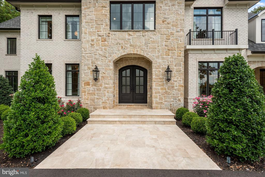 Travertine Front Walk and Main Entry to the Home - 22436 MADISON HILL PL, LEESBURG