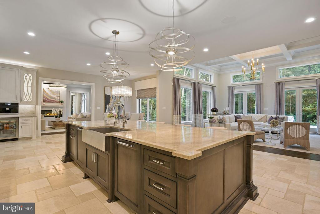 Entertainer's Dream  Kitchen Opens to Great Room - 22436 MADISON HILL PL, LEESBURG
