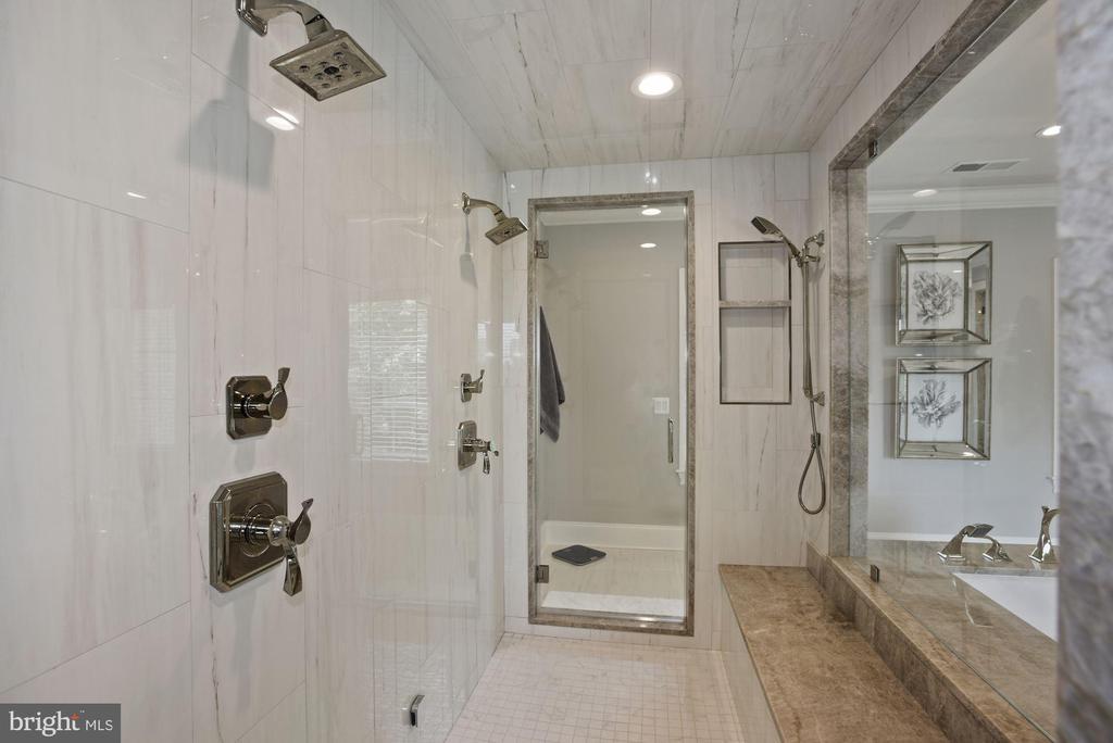 Walk Through Steam Shower with Dual Shower Heads - 22436 MADISON HILL PL, LEESBURG