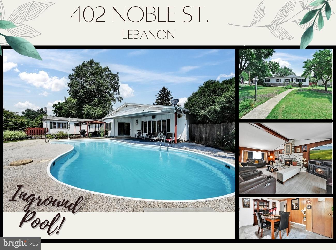 Welcome to 402 Noble St. Lebanon