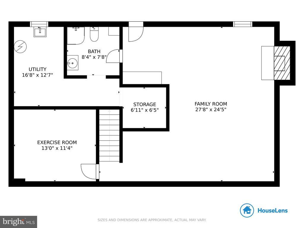 Basement Floor Plan - 4821 REGIMENT CT, WOODBRIDGE