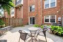 Back yard - fenced in brick patio. - 10133 VILLAGE KNOLLS CT, OAKTON