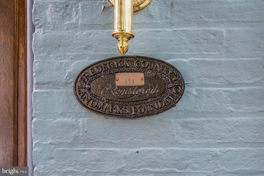 Registered Landmark Plaque - 212 E 3RD ST, FREDERICK