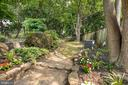 Back Yard with Gardens and Hardscape - 21 E SOUTH ST, FREDERICK