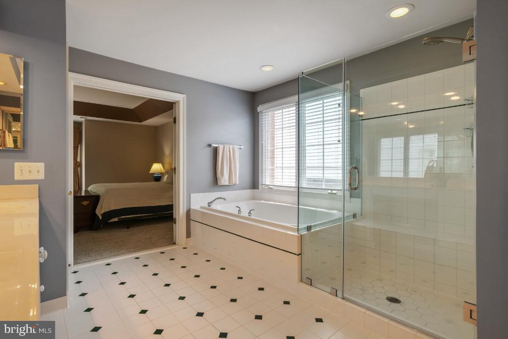Owners Full Bathroom w/ Shower & Soaking Tub - 6809 CLIFTON GROVE CT, CLIFTON