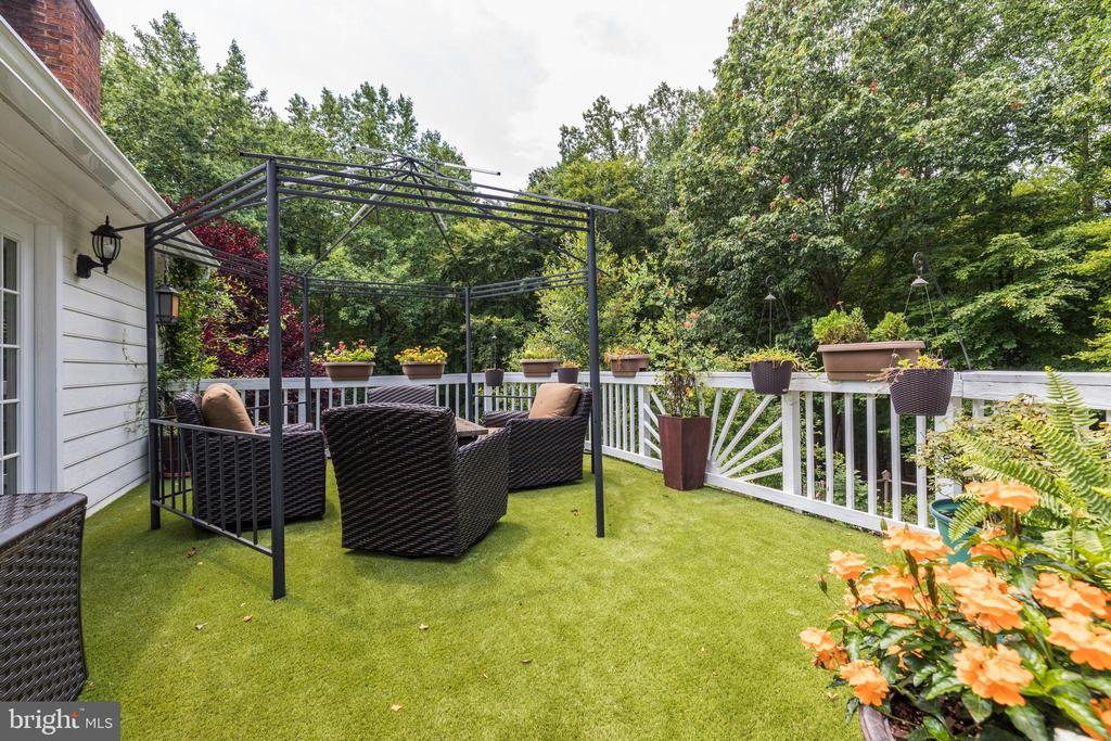 Deck with custom artificial turf - 8104 FLOSSIE LN, CLIFTON
