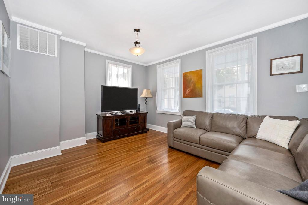 Lots of light in living room - 123 W 5TH ST, FREDERICK