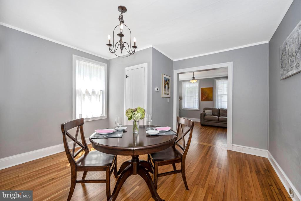 Dining room to living room - 123 W 5TH ST, FREDERICK