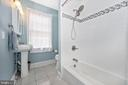 Upper level bath accessible to BRs 2 and 3 - 123 W 5TH ST, FREDERICK