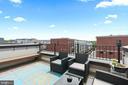 Rooftop terrace off of 4th level loft - 256 BLUEMONT BRANCH TER SE, LEESBURG