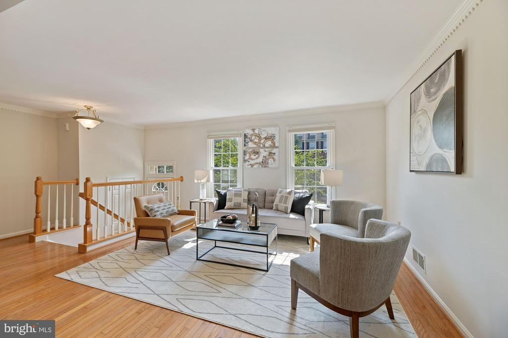 Living Room is Light, Bright, Spacious, & Airy! - 8009 MERRY OAKS LN, VIENNA