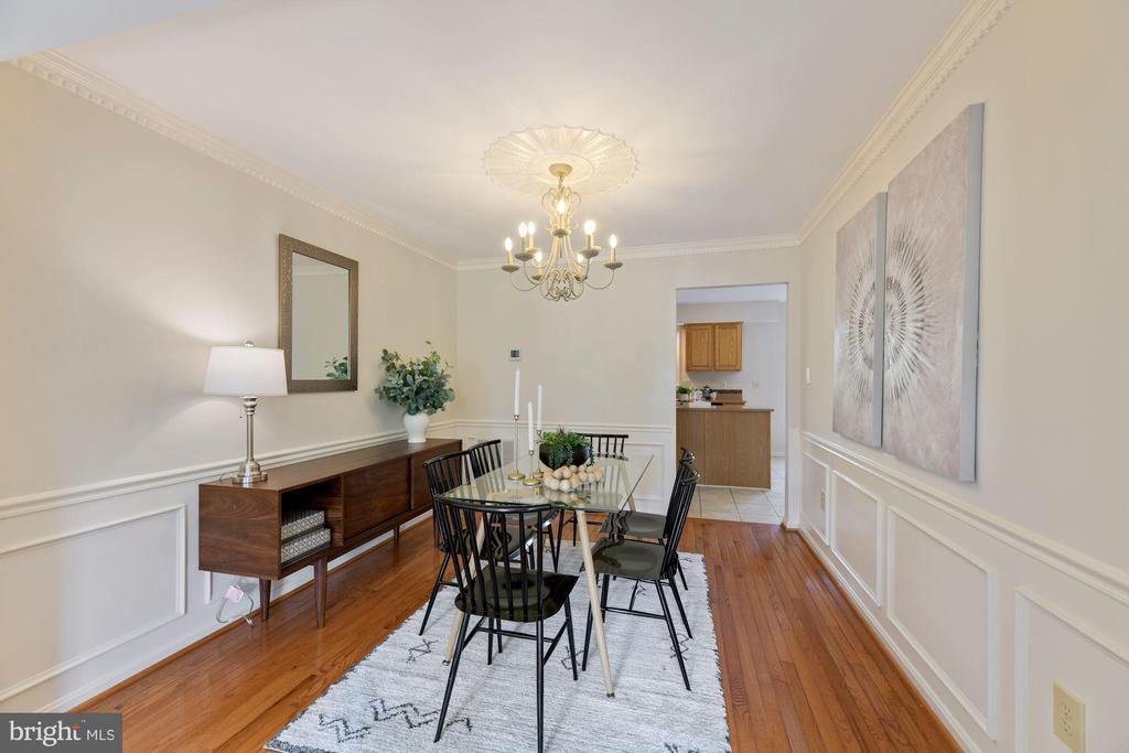 Dining Room - Lovely Chandelier + Fresh Paint! - 8009 MERRY OAKS LN, VIENNA