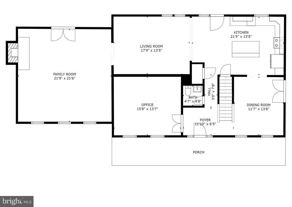 Main Level Floor Plan - 8104 FLOSSIE LN, CLIFTON