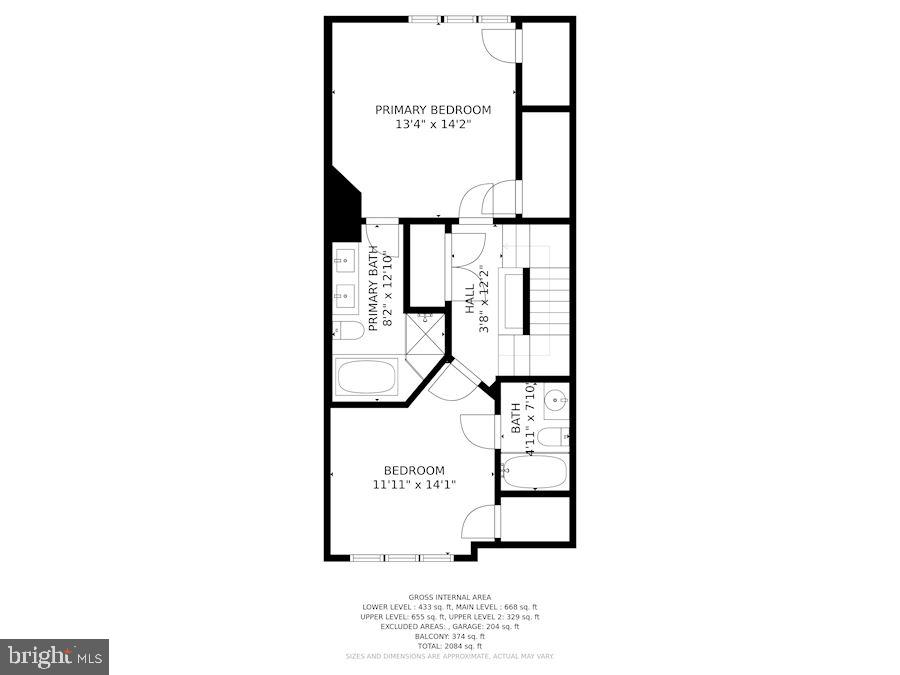 Bedroom Level with Master Bedroom & Second Bedrom - 12079 CHANCERY STATION CIR, RESTON