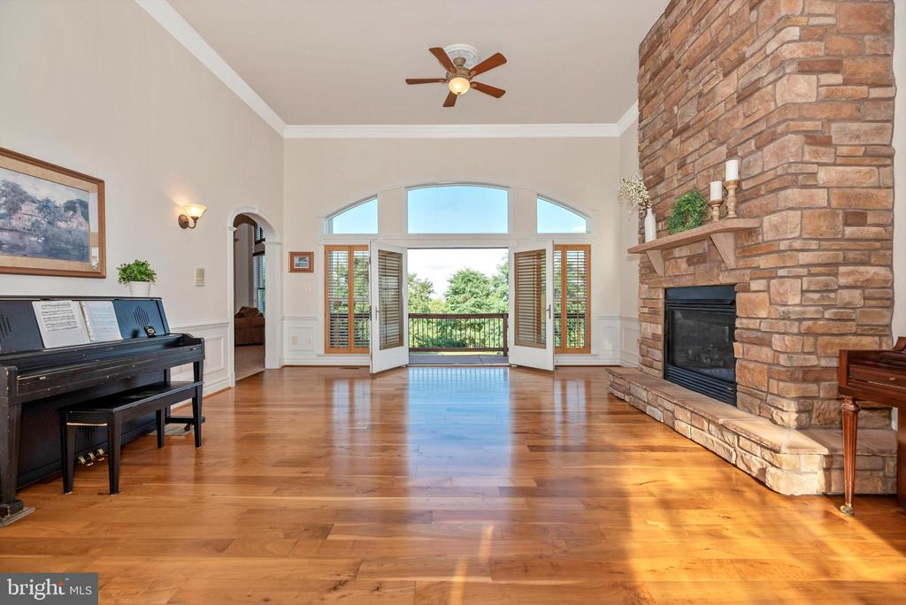 French Doors w/ Transom Windows Leading to Deck - 7525 OLD RECEIVER RD, FREDERICK