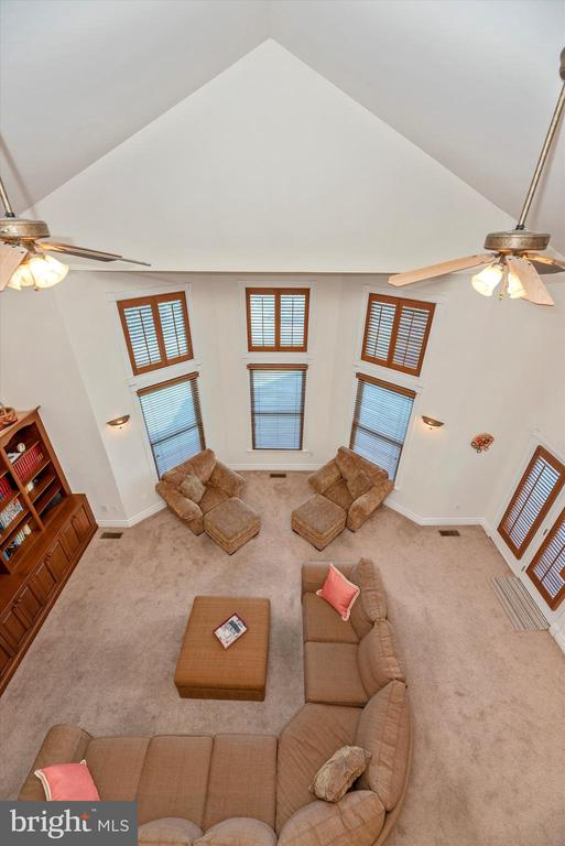 Great Room View from Loft - 7525 OLD RECEIVER RD, FREDERICK
