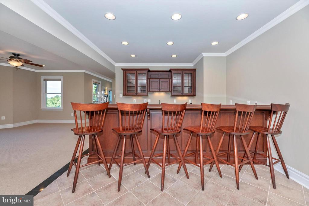 Basement Built-In Bar that Seats 6 - 7525 OLD RECEIVER RD, FREDERICK