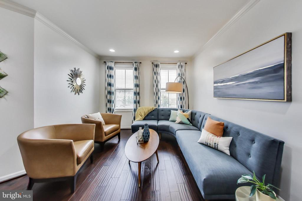 Living room perfect for entertaining guests - 23636 SAILFISH SQ, BRAMBLETON