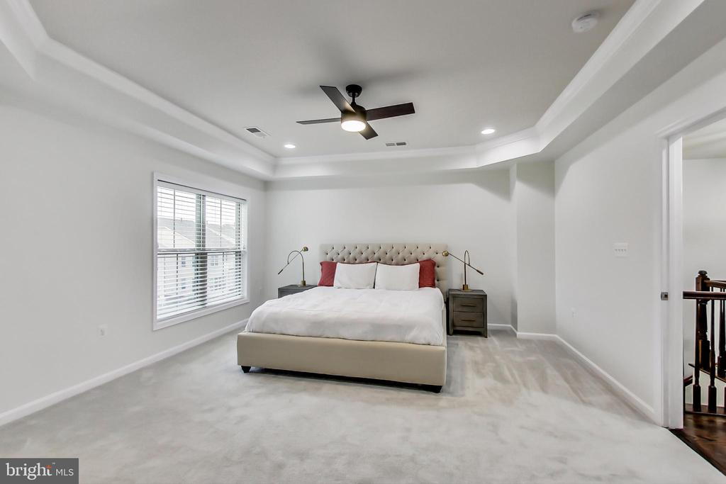 Spacious Owners BR with brand new ceiling fan - 23636 SAILFISH SQ, BRAMBLETON