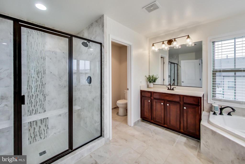 Owner�s LUX bath-expanded shower w/ custom tile - 23636 SAILFISH SQ, BRAMBLETON