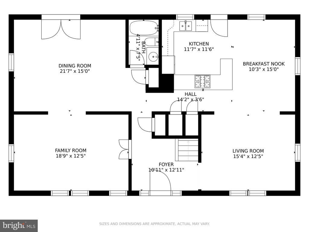 First Floor Plan - 5609 S QUAKER LN, ALEXANDRIA