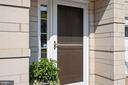 Covered front Entry with Custom Storm/Screen Door - 12079 CHANCERY STATION CIR, RESTON