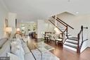 Gorgeous Piano Stairs with Walnut Stained Banister - 12079 CHANCERY STATION CIR, RESTON