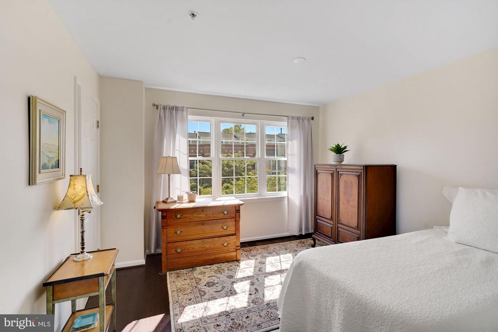 Second Bedroom with Wall of Windows - 12079 CHANCERY STATION CIR, RESTON
