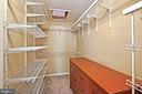 Large walk in closet with additional attic space - 11736 ROCKAWAY LN #101, FAIRFAX