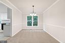 New dining room chandelier - 15 SARRINGTON CT, STAFFORD