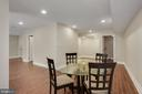 Dining space in the Basement suite. - 11400 ALESSI DR, MANASSAS