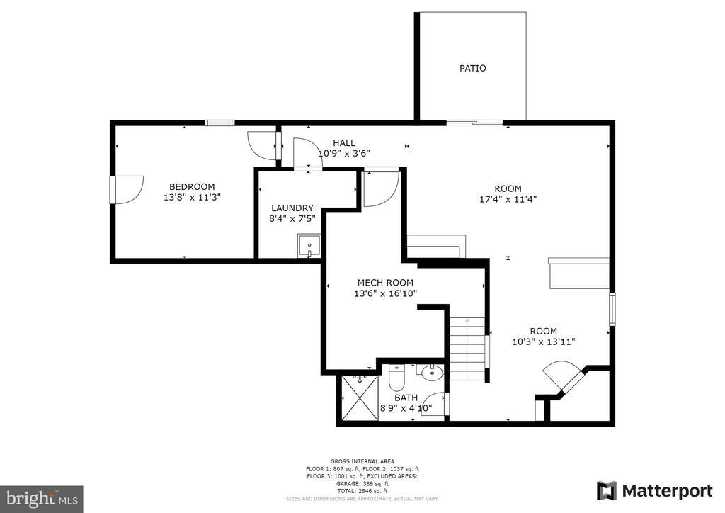 Lower level floor plan - 15 SARRINGTON CT, STAFFORD