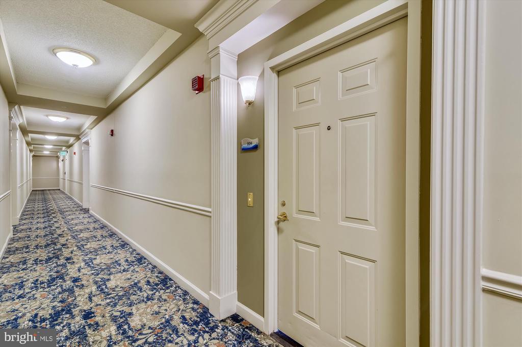 Hallway to Unit 904 entrance - 19375 CYPRESS RIDGE TER #904, LEESBURG
