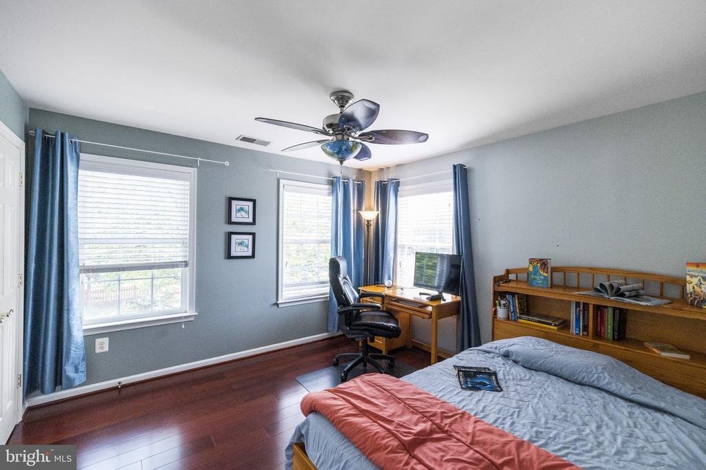 Extra WIndows in Bedroom 2 with Fan - 23084 PECOS LN, BRAMBLETON