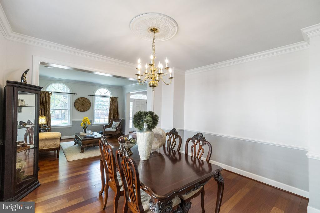 Large Dining Room with Bump Out Window - 23084 PECOS LN, BRAMBLETON