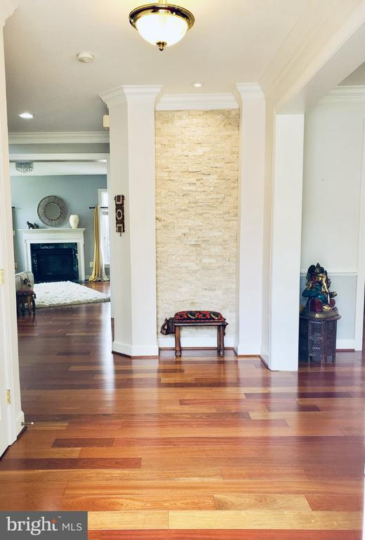 Entrance Foyer With Custom Stone Ambient Wall - 23084 PECOS LN, BRAMBLETON