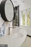 Curved floating concrete double sink counter - 1120 GUILFORD CT, MCLEAN