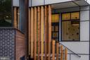 Beams as stairs railing - 1120 GUILFORD CT, MCLEAN
