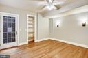 lower level bedroom door to patio - 3038 N PEARY ST, ARLINGTON